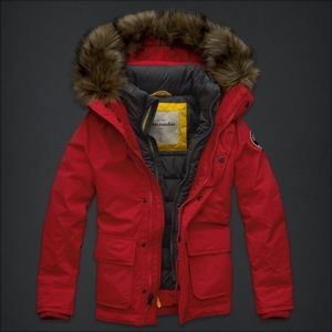 NWT abercrombie kids military utility parka jacket